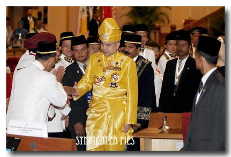 Look at DYTM Raja Muda Perak's obvious expression, when shaking the hands of the PR Primates