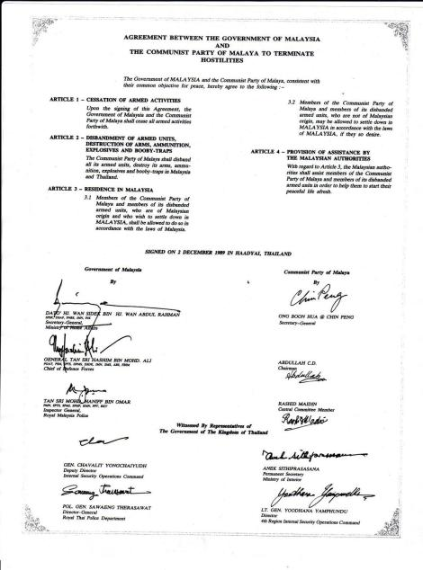 Hadyaii Accord, signed 2 Dec 1989