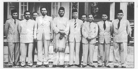 Tunku Abdul Rahman's team on the London mission to negotiate for Independence in 1956