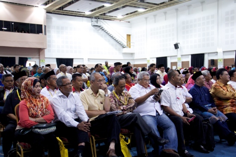 Some of the attendees of PERKASA do in Permatang Pauh on 19 January 2013