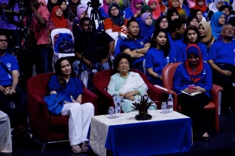 Kaum ibu dan muda mudi yang menghadiri Himpunan Anak Kedah