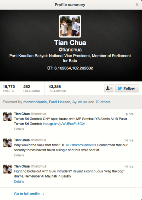 The unpatriotic Tian Chua