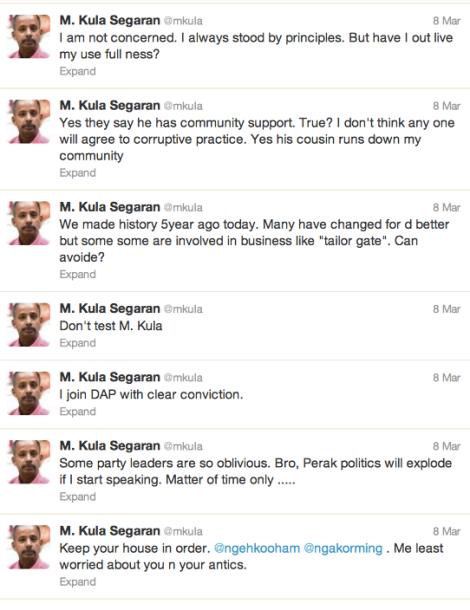 Twitter of M Kula Vs Ngeh Koo Ham and Nga Kor Ming on 8 March 2013