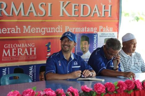 Dato' Paduka Mukhriz Mahathir di PDM Permatang Paku