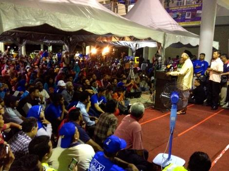 Tun Dr Mahathir Mohamad berucap di P44 Permatang Pauh