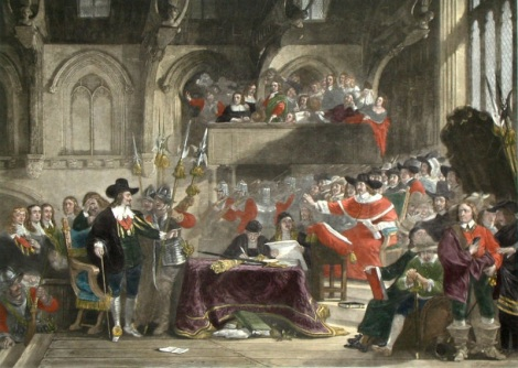 The trial of Charles, King of England, January 1649