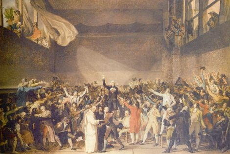 The chaos of a court just after the French Revolution