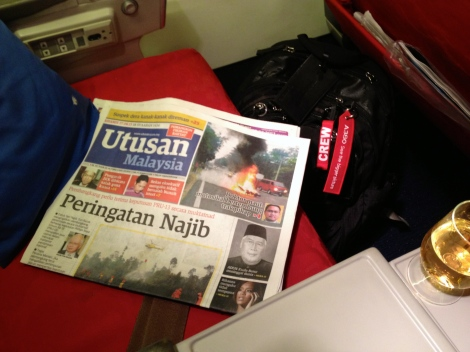 Utusan Malaysia is available onboard