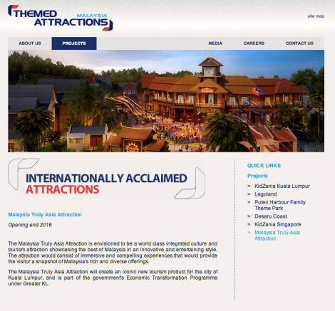 The Malaysia Truly Asia attraction by Theme Attraction and Resorts Sdn. Bhd.