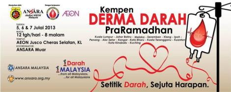 ANSARA pre-Ramadhan Blood Donation Campaign 2013
