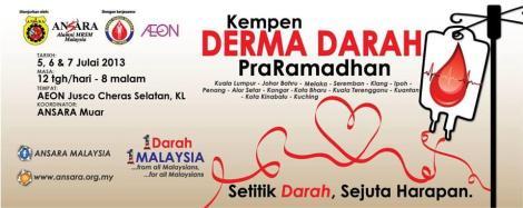 ANSARA pre-Ramadhan Blood Donation Campaign 2013