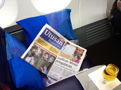 Utusan Malaysia is available onboard national carrier Malaysia Airlines