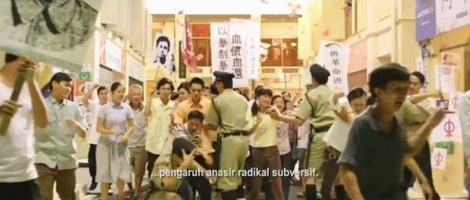 "The scene in ""Tanda Putera"" depicting the Chinese Chauvinism-centric demonstrations chanting anti-Malay slogans, the day before the 3GE polls in May 1969"