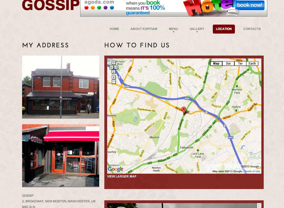 Screenshot of the location of gossip on way