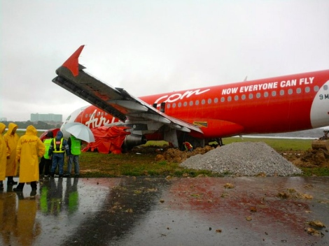Air Asia mishap in Kuching, 2011