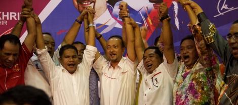 Some of the UMNO Kedah Division Heads at Seri Mentaloon