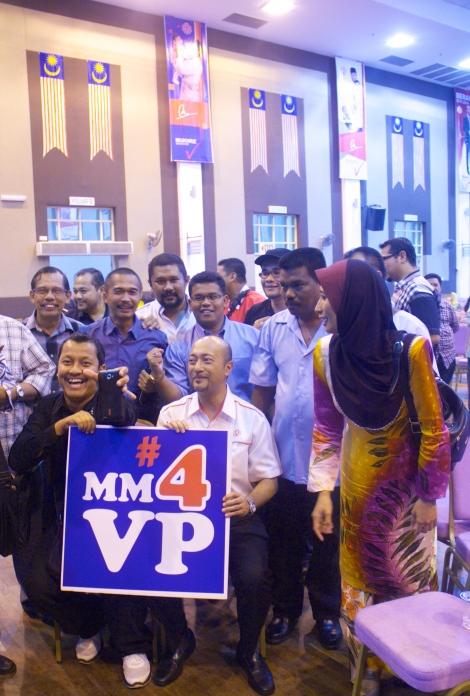Some of Dato' Paduka Mukhriz's staunch supporters at Seri Mentaloon