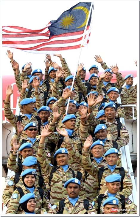 Malaysian Armed Forces as UN peacekeepers aka 'Blue Berets'