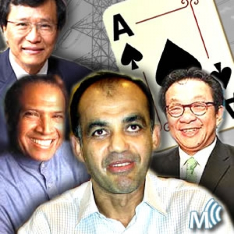 Club of Super Aces: Lim Kok Thay, Ananda Krishnan, Syed Mokhtar and Francis Yeoh. Opposition only go after Syed Mokhtar