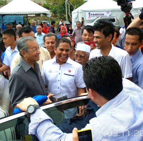 Tun Dr. Mahathir Mohamad at Karnival, PPK Mada, Bukit Besar