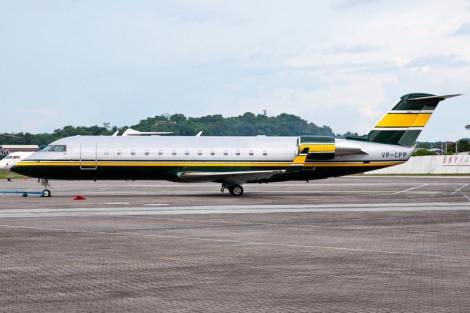 A CRJ700 with Caterham livery