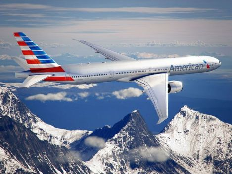 The new airline, with the new American livery