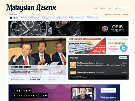 The Malaysian Reserve website