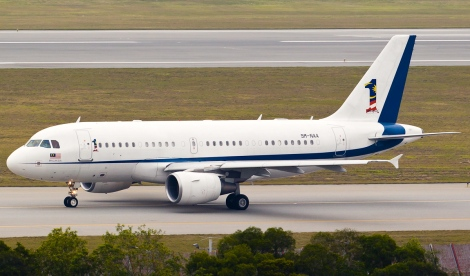 Malaysian Government VVIP jet ACJ319 with tail number 9M-NAA