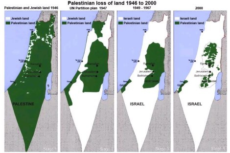 Palestine being wiped out into Israel, by brutally criminal Zionists