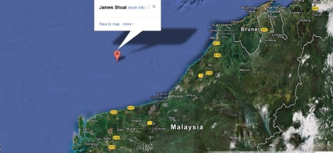 James Shoal and proximity to Sarawak