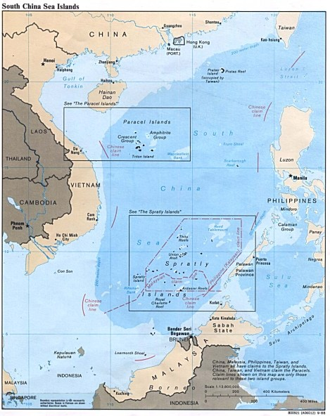 Paracel Islands, which is closer to Vietnam than China, were invavded by Chinese Naval Forces forty years ago