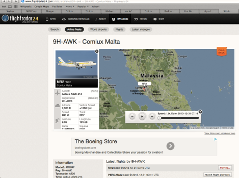 The online log of the 9H-AHK