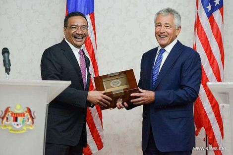 Defense Secretary Chuck Hagel during official visit to Kuala Lumpur