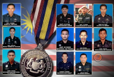 None of the falling heroes amongst the extraordinary Policemen who were slained in Lahad Datu are of Chinese ethnicity. A demonstration of unfair heterogenous representation of the Malaysian populous. Pix by Apanama