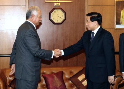 Prime Minister Najib meeting Chinese Vice Minister of Foreign Affairs Yesui