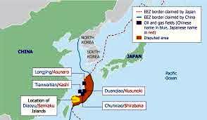Hydrocarbon deposits and fields around Senkaku Islands