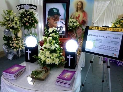 The wake for Bernard Khoo at St Ignatius Church, Petaling Jaya