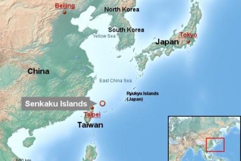 The disputed islands of Senkaku (Japan) / Daiyou (China)