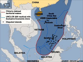 China's imaginary and unsubstantiated Nine-Dash-Line