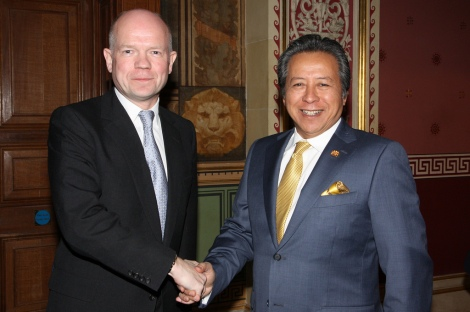 British Foreign Secretary William Hague and Malaysian Foreign Minister Dato' Sri Anifah Aman, in Whitehall