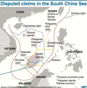 A detailed map of China's claims into ASEAN nations' EEZ