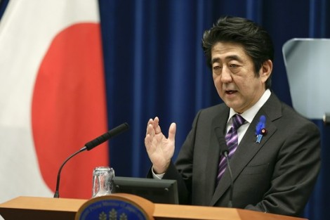 Japanese Prime Minister Shinzo Abe speaks during a news conference at prime minister's official residence in Tokyo on July 1. European Pressphoto Agency