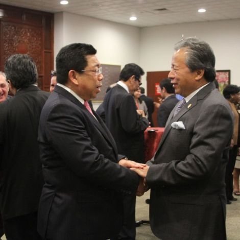 FM Anifah with Bruneian Permanent Rep to UN Dato' Abdul Ghafar Ismail