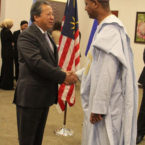 FM with Nigerian Permanent Rep to UN Usman Sarki