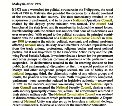 Pro-Communist DAP and Partai Sosialis refused to be part of Tun Razak's National Consultative Council Jan 1970