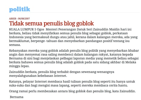 "Eight years ago, Zam called SOPO bloggers as ""Goblok"""