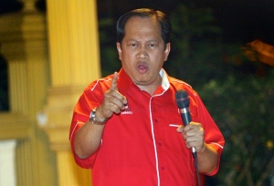 The UMNO Information Chief and Deputy Minister of Finance Ahmad Hj Maslan
