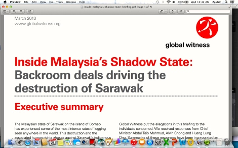 Global Witness attack against Taib Mahmud when he was the Sarawak Chief Minister
