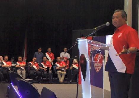 UMNO Deputy President Tan Sri Muhyiddin Mohd. Yassin speaking at UMNO Training Camp in Janda Baik