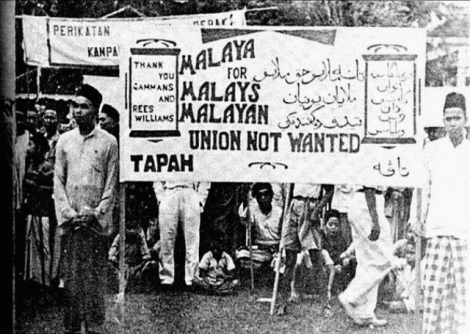The Malays came in full force to oppose the Malayan Union, which Edward Gent declared on 1 April 1946